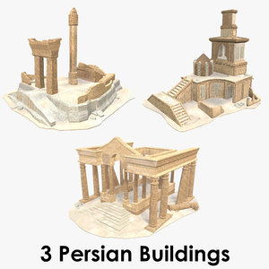 3D persian buildings - model