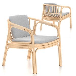 3D chair armchair rattan