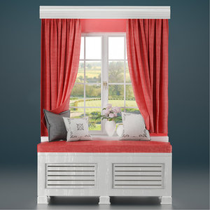 window seat 3D