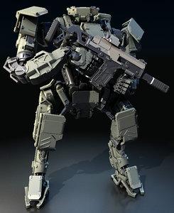 3D model robot biped