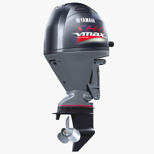 3D outboard motor 90