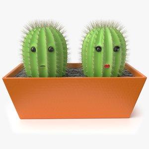 toy cactus 3D