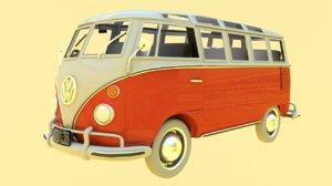 volkswagen samba t1 3D model