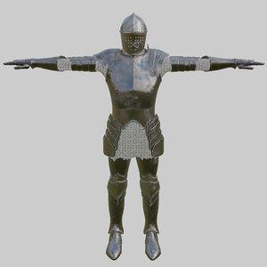 3D model armor pbr