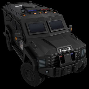 3D car armored black police