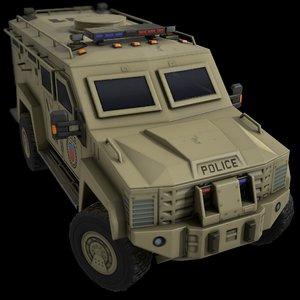car armored police 3D model