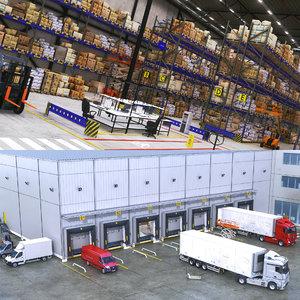 3D warehouse scene model