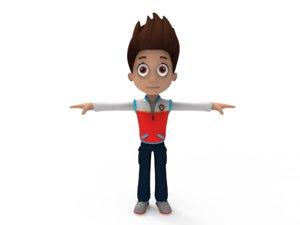 cartoon character ar 3D model