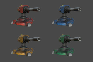 3D turret games military