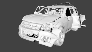 destroy car 3D model