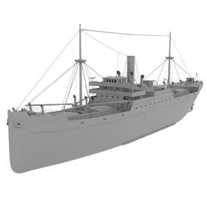 original steam ship 3D model