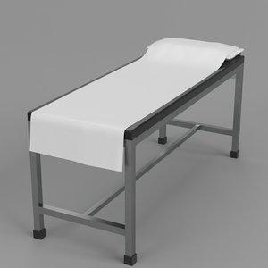 3D patient examination table 1 model