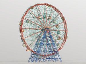 carousel wheel wonder 3D model