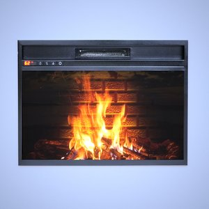 3D electric fireplace model