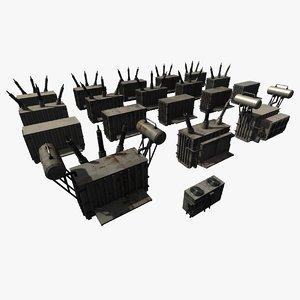 3D model powerstation props