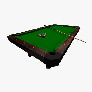 billiard set 3D