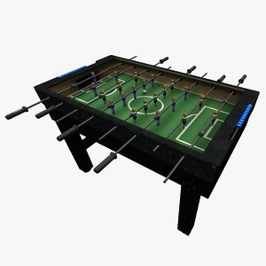 3D tabletop scoccer sets table model
