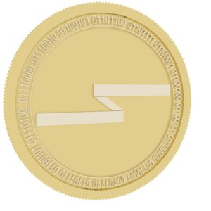 silent notary gold coin 3D model
