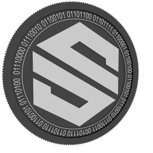 social send black coin 3D model