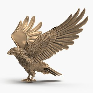 3D model eagle animation