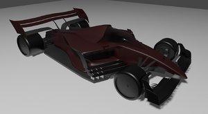 3D f1 concept car