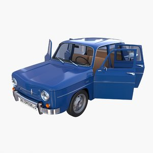 3D renault 8 interior car details