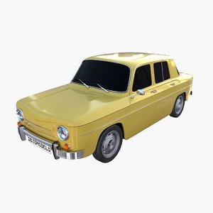 generic 60s vehicle car interior 3D model