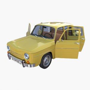 generic 60s vehicle interior 3D