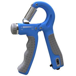 fitness hand gripper 3D model