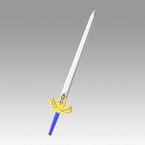 fate zero artoria 3D model