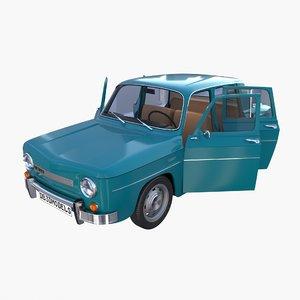dacia 1100 interior car details 3D model