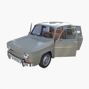 3D dacia 1100 interior car details