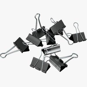3D model realistic binder pile