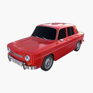 dacia 1100 car interior 3D
