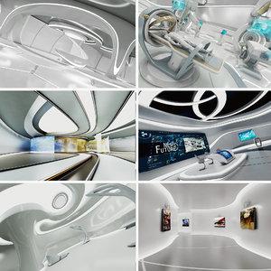 futuristic interior 1 sci-fi model