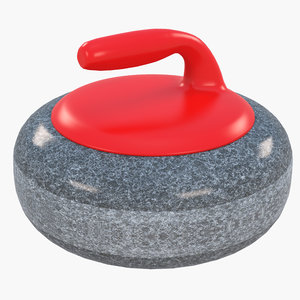 3D curling stone model