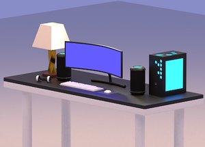 3D model destop computer
