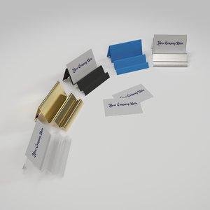 business card holders model