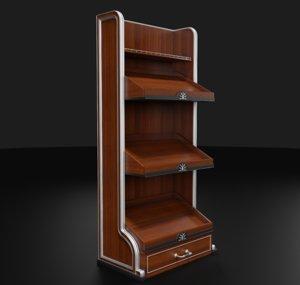 rack wooden finish 3D