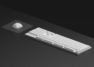 3D computer keyboard model