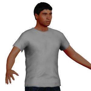 latin man rigged character model