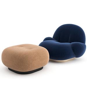 armchair pacha lounge chair 3D model