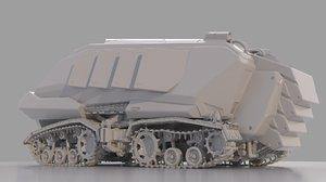 planet rover sci-fi 3D model