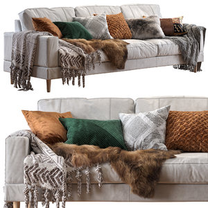 3D capri sofa bear fur