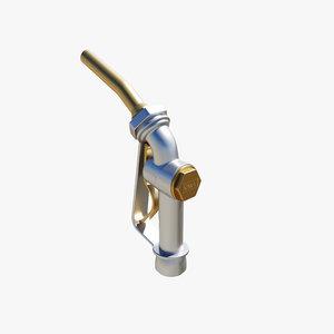 3D model fuel nozzle
