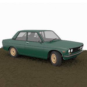 datsun 510 coupe custom 3D model