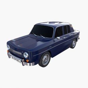 3D dacia 1100 car interior model