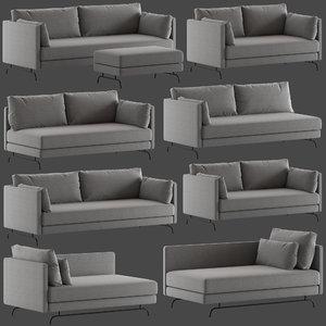 3D dixon sofa