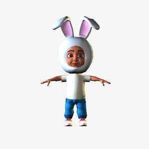 rabbit boy 3D model