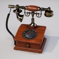 Vintage phone Low-poly 3D model